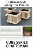 Cube Series Craftsman Rolling Planter