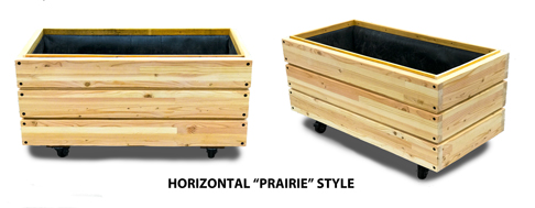 Horizontal Style Rolling PLanter